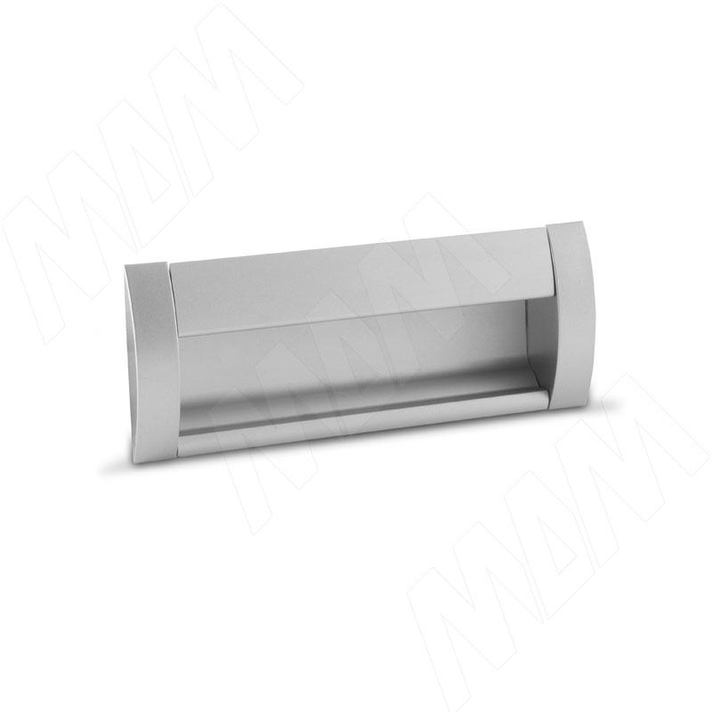 Ручка-раковина 96мм крепление саморезами алюминий матовый (SH.RU2.096.AL) ручка раковина 160мм крепление саморезами черный матовый sh ru2 160 bl