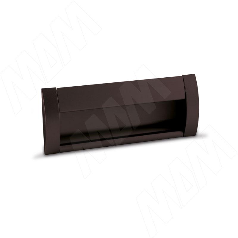 Ручка-раковина 96мм крепление саморезами коричневый матовый (SH.RU2.096.BR) ручка раковина 160мм крепление саморезами черный матовый sh ru2 160 bl