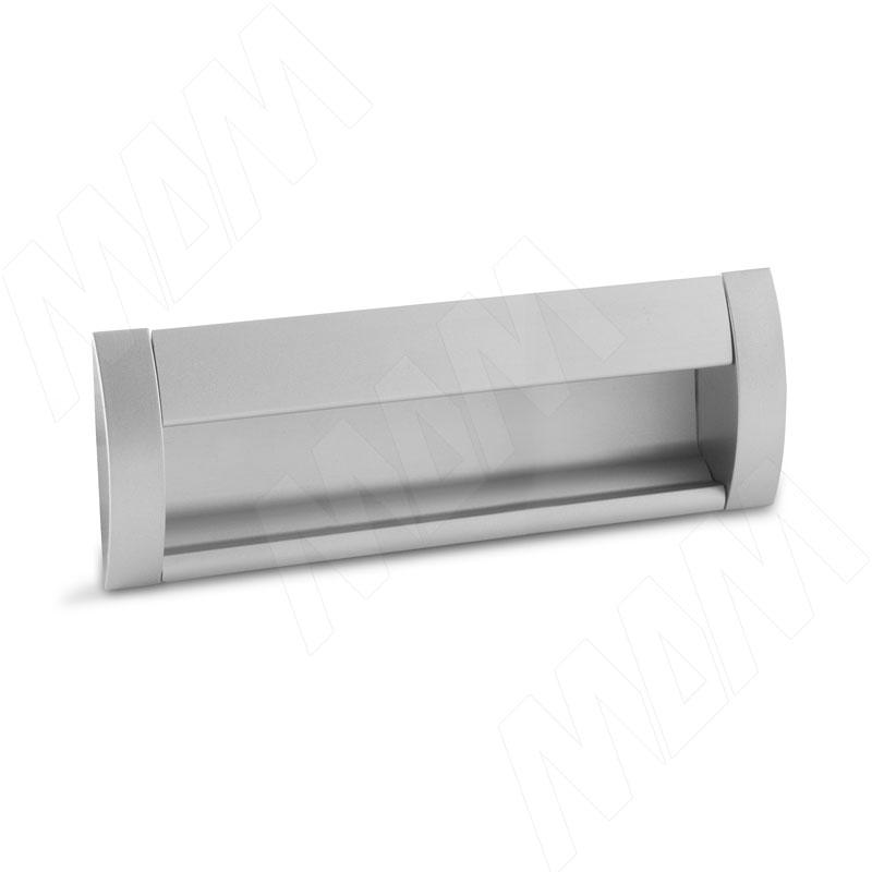 Ручка-раковина 128мм крепление саморезами алюминий матовый (SH.RU2.128.AL) ручка раковина 160мм крепление саморезами черный матовый sh ru2 160 bl