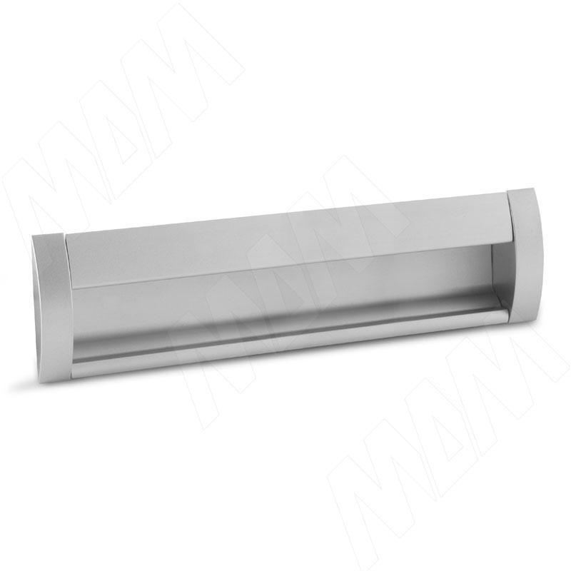 Ручка-раковина 160мм крепление саморезами алюминий матовый (SH.RU2.160.AL) ручка раковина 160мм крепление саморезами черный матовый sh ru2 160 bl