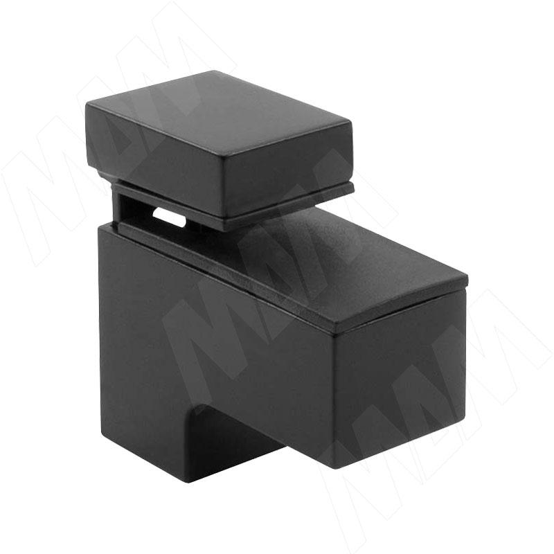Фото - КВАДРО МИНИ Менсолодержатель 24х51 мм для деревянных и стеклянных полок 4 - 20 мм, черный (SU15A FCR) fcr 02