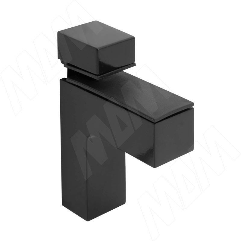 КВАДРО Менсолодержатель 24х66 мм для деревянных и стеклянных полок 4 - 40 мм, черный SU16A FCR - Купить в интернет-магазине в Москве и России. МДМ. Все для мебели.
