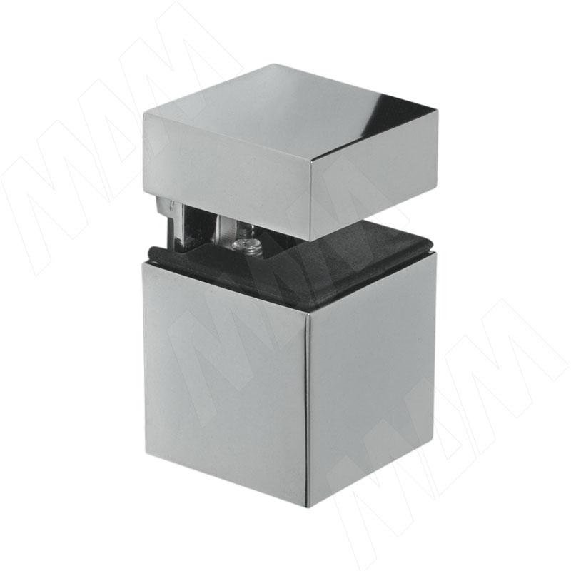 цена на КВАДРО Менсолодержатель 30х30 мм для деревянных и стеклянных полок 4 - 16 мм, хром (SU20A ZCR)