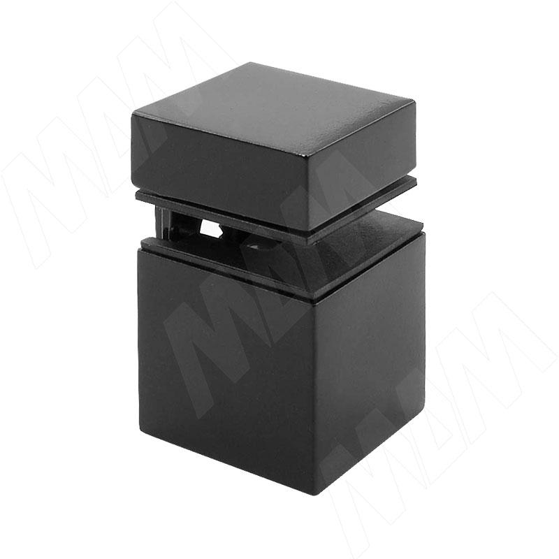 Фото - КВАДРО Менсолодержатель 30х30 мм для деревянных и стеклянных полок 4 - 16 мм, черный (SU20A FCR) fcr 02