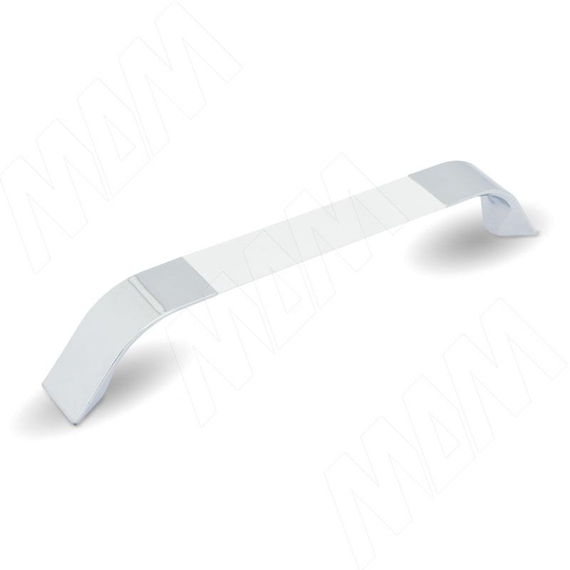 Ручка-скоба 160мм хром/белый (UA850440/160) ручка скоба 160мм хром bh 03 160 pc