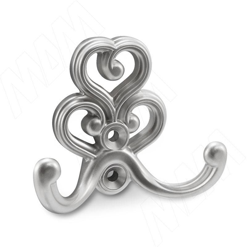 ROME Крючок двухрожковый серебро Ноттингем (WAP.802.000.00R3) rome крючок двухрожковый медь состаренная wap 802 000 00c1