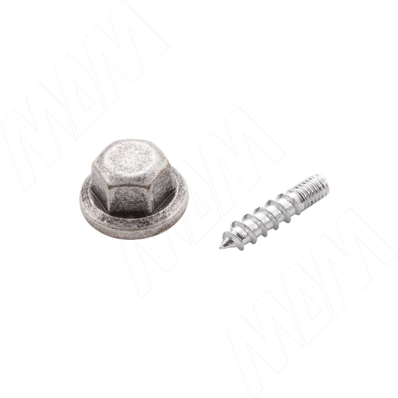 Декоративный фальш-болт серебро состаренное (WFR.760.BUL.00E8)