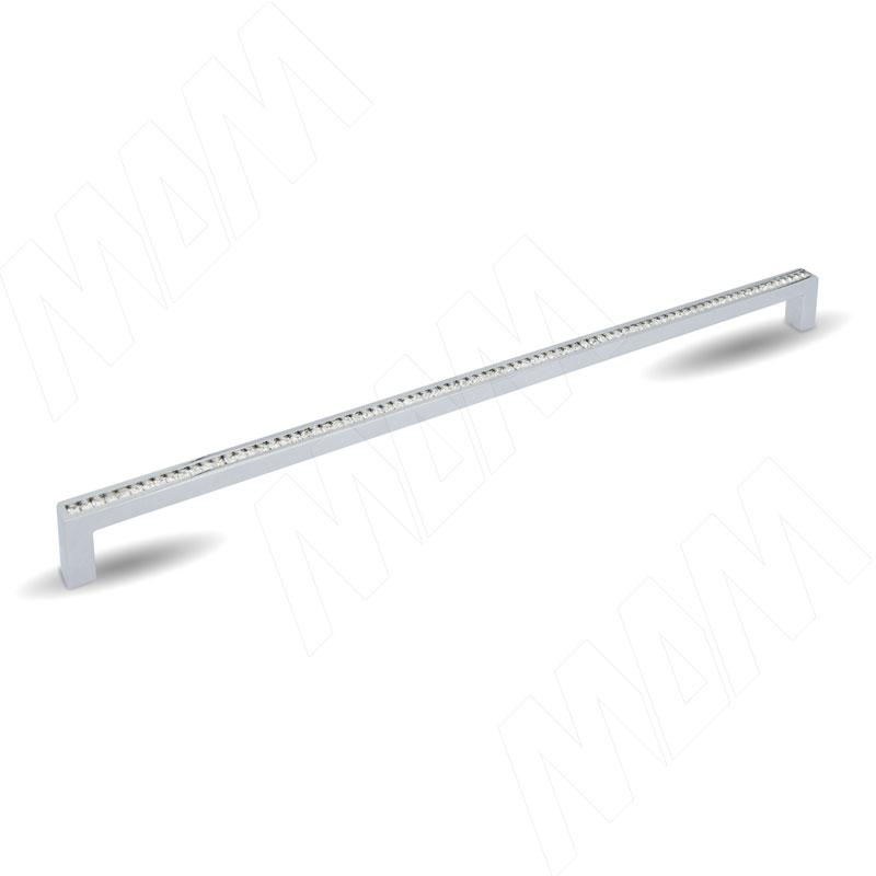 Ручка-скоба 320мм хром с кристаллами Сваровски (WMN.335K.320.KR02) ahura 03фигура полярная сова с кристаллами сваровски