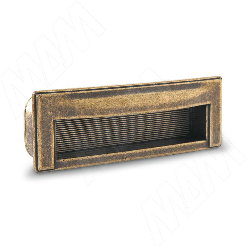 Ручка-раковина 96мм бронза состаренная (WMN.610.096.00D1) ручка раковина 96мм титан 405c 96 69