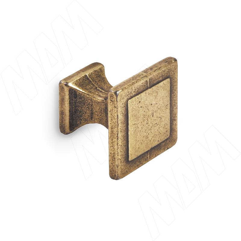 Ручка-кнопка бронза состаренная (WPO.115.000.00D1)