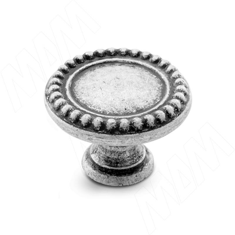 Ручка-кнопка D30мм серебро состаренное (WPO.2030.030.00E8) ручка кнопка d30мм серебро состаренное керамика молочная wpo 771 000 00e8