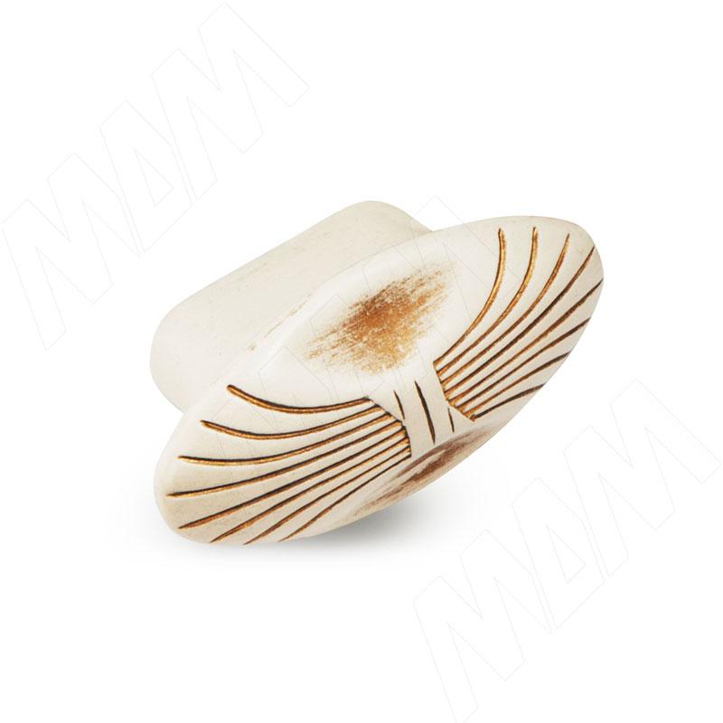 Ручка-кнопка cлоновая кость/золото винтаж (WPO.503.000.00V5) ручка кнопка медь винтаж wpo 762 000 00c5