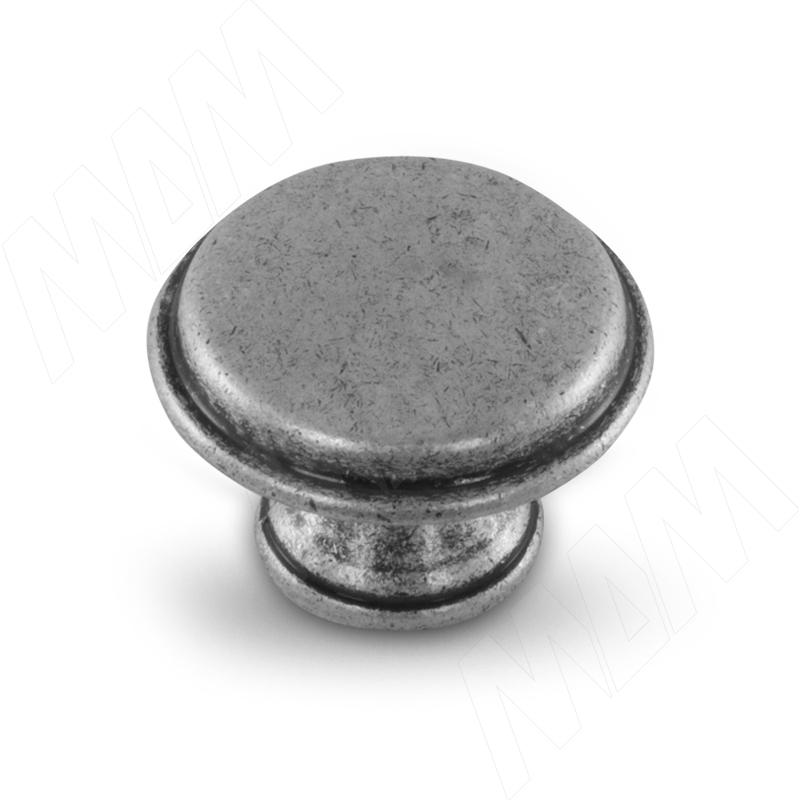 Ручка-кнопка D30мм серебро состаренное (WPO.6000.030.00E8) ручка кнопка d30мм серебро состаренное керамика молочная wpo 771 000 00e8