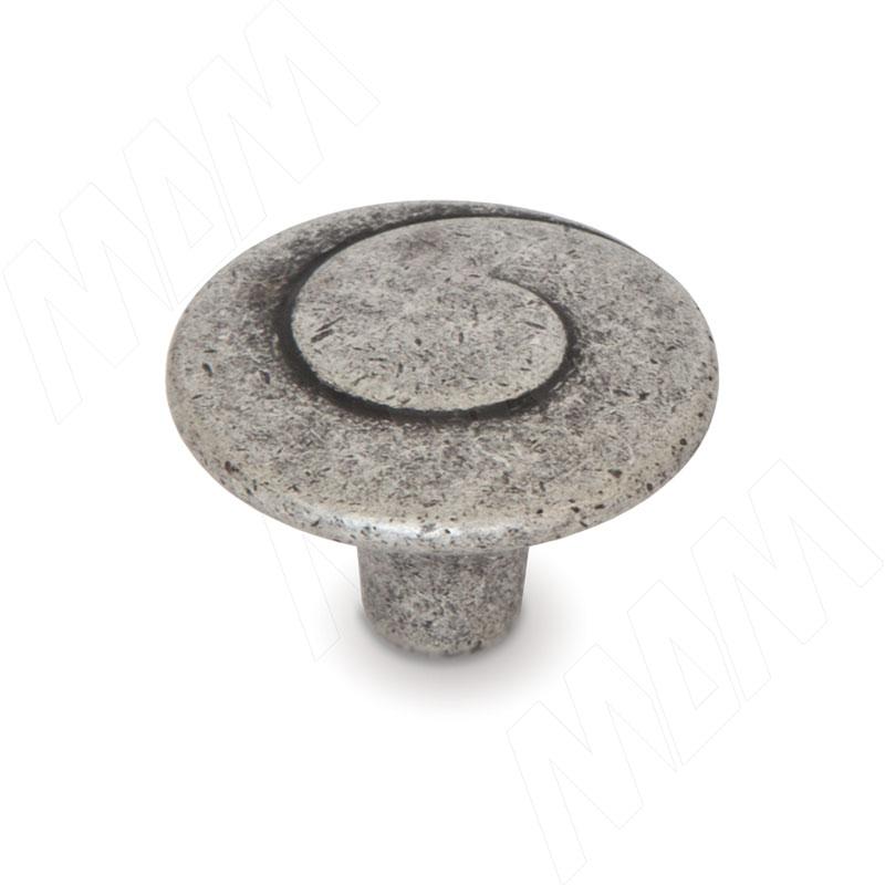 Ручка-кнопка D30мм серебро состаренное (WPO.602.030.00E8) ручка кнопка d30мм серебро состаренное керамика молочная wpo 771 000 00e8