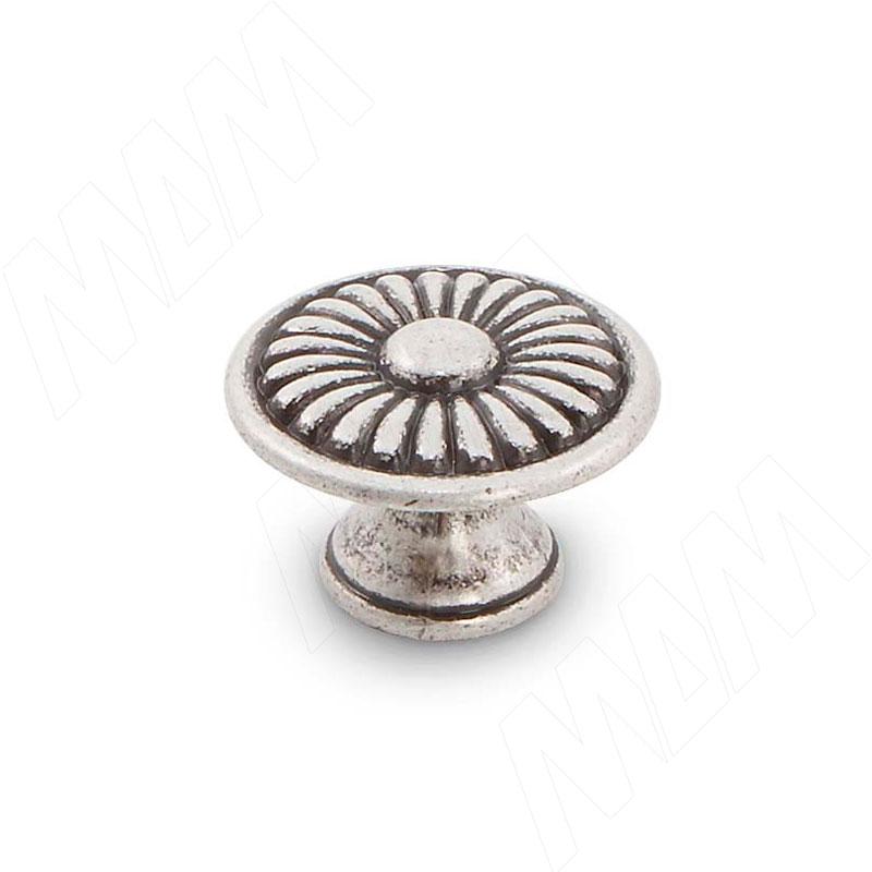 Ручка-кнопка D30мм серебро состаренное (WPO.6022.030.00E8) ручка кнопка 1427 f20 золотое кольцо