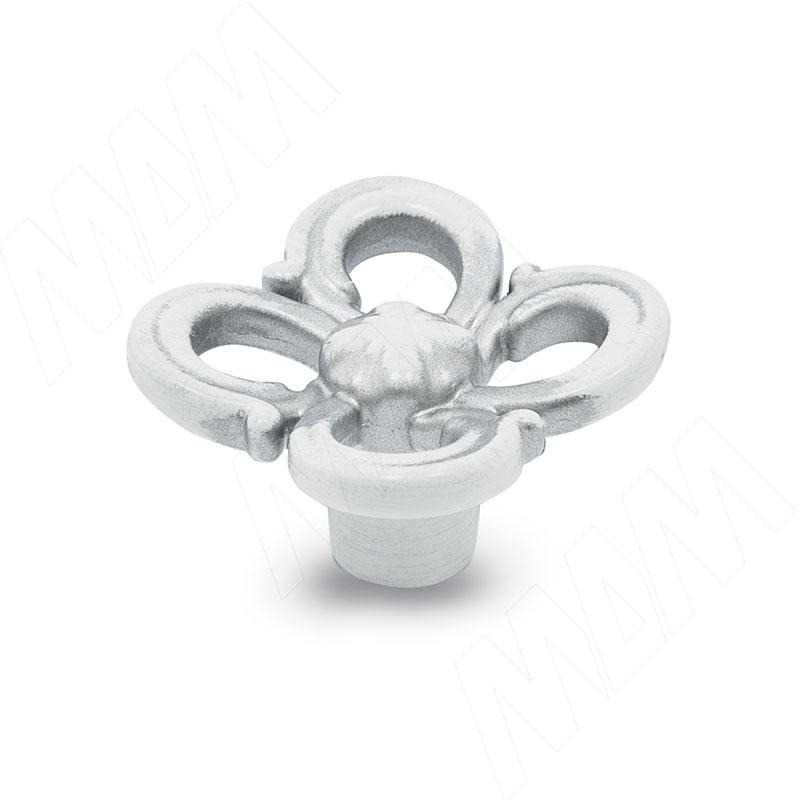 Ручка-кнопка белый/серебро винтаж (WPO.636.031.00V4) ручка кнопка медь винтаж wpo 762 000 00c5