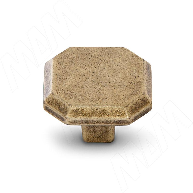 Ручка-кнопка бронза состаренная (WPO.752.000.00D1)