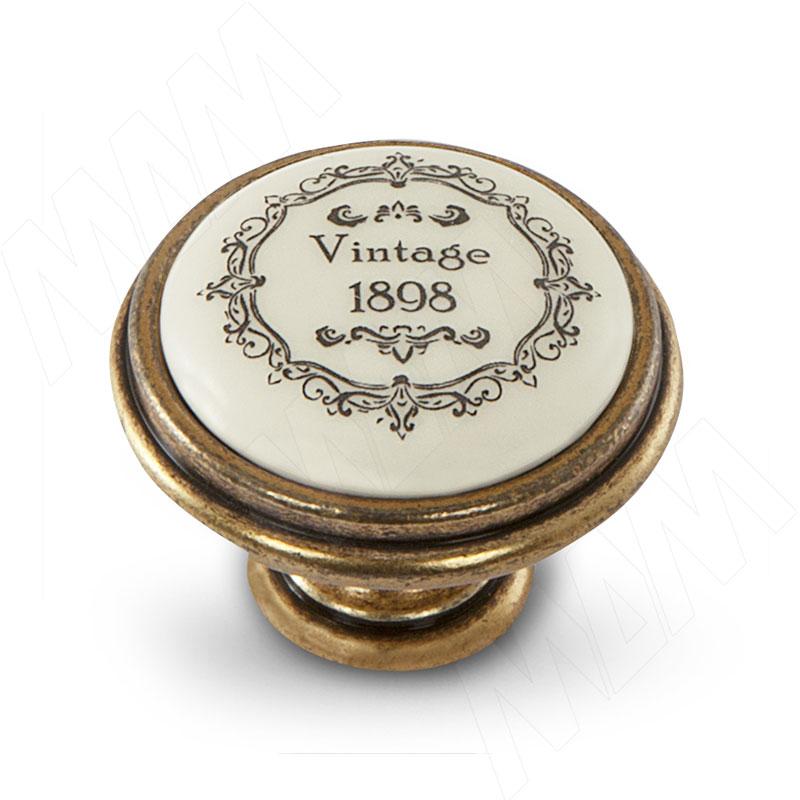 Ручка-кнопка D35мм бронза Орваль/керамика Vintage (WPO.77.01.Q3.000.A8) ручка кнопка d25мм бронза орваль wpo 811 025 00a8