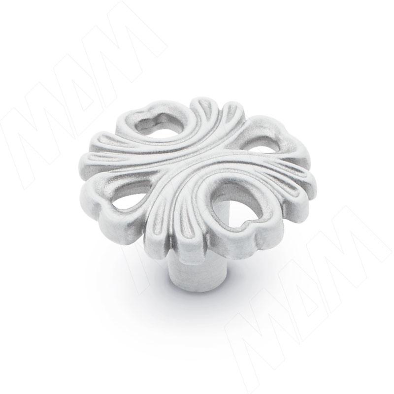 Ручка-кнопка белый/серебро винтаж (WPO.829.000.00V4) ручка кнопка медь винтаж wpo 762 000 00c5