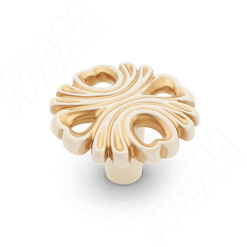 Ручка-кнопка cлоновая кость/золото винтаж (WPO.829.000.00V5) ручка кнопка cлоновая кость золото винтаж wpo 745 000 00v5
