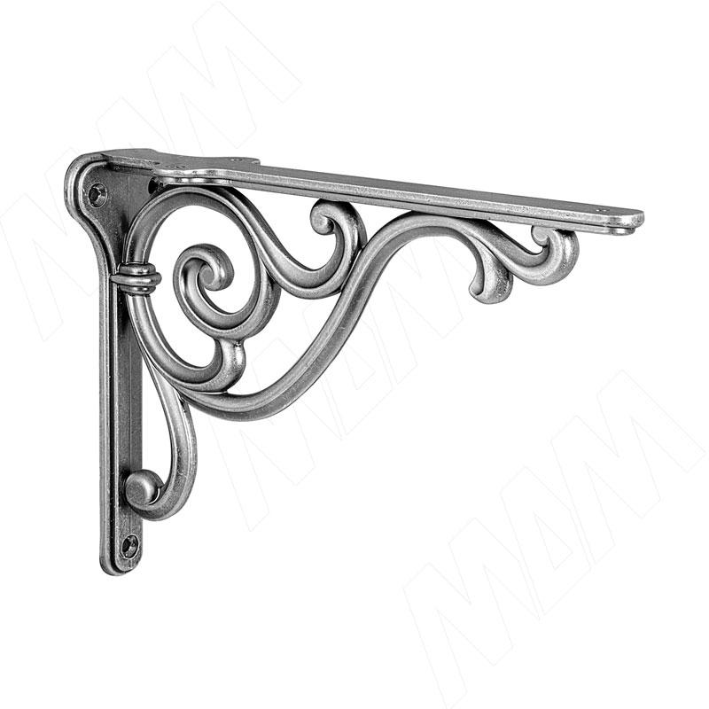 ROME Менсолодержатель для деревянных полок L-200 мм, серебро состаренное (WRM.800.200.00AN) недорого