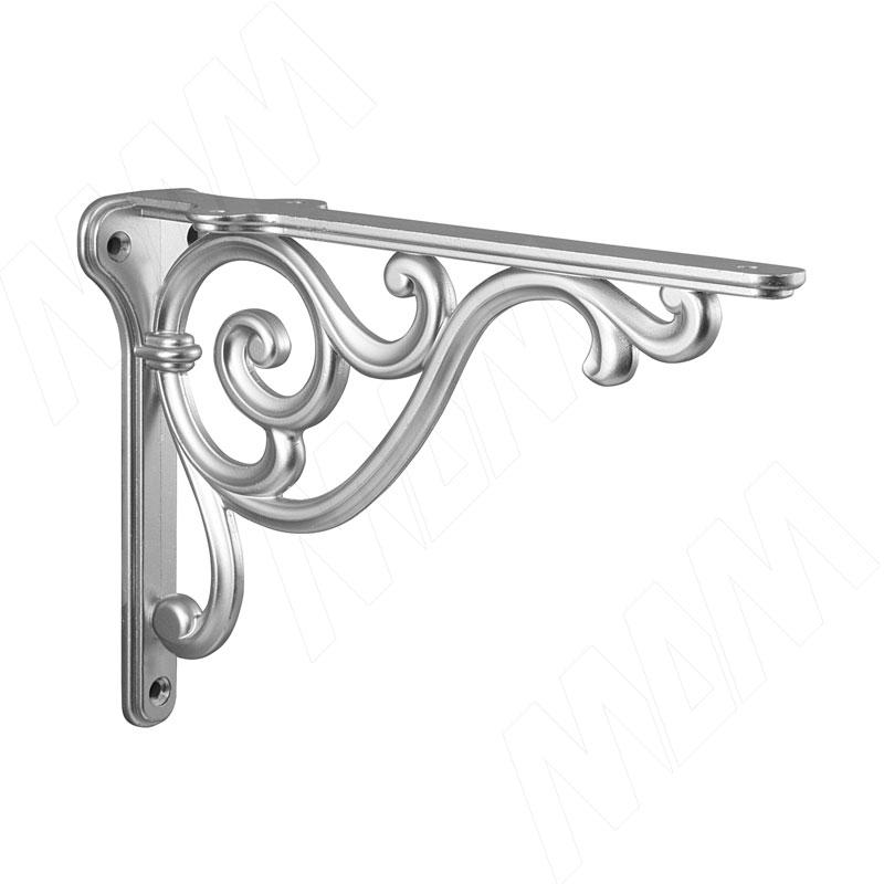 ROME Менсолодержатель для деревянных полок L-200 мм, серебро Ноттингем (WRM.800.200.00R3) недорого