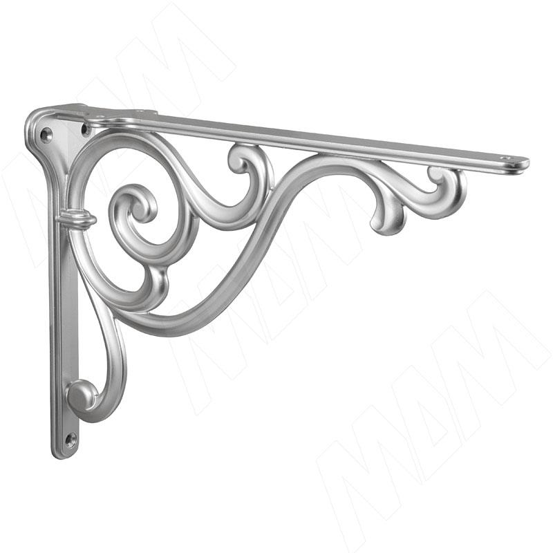 ROME Менсолодержатель для деревянных полок L-250 мм, серебро Ноттингем (WRM.800.250.00R3) недорого
