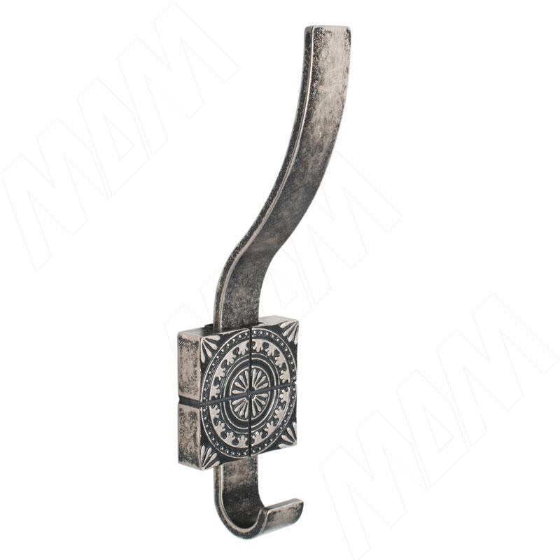 SPARTA Крючок двухрожковый серебро состаренное (Z-5413.G35)