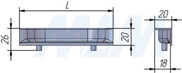 Размеры ручки-раковины (артикул 388)