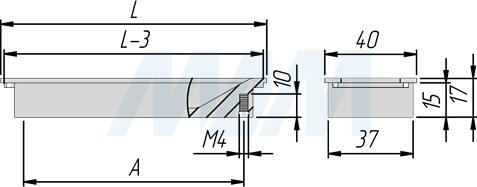 Размеры ручки-раковины (артикулы 405B и 405C)