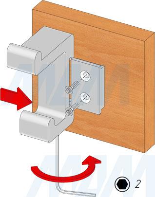 Установка двухрожкового крючка PROFILE (артикул PRF)