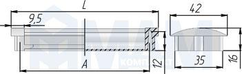 Размеры ручки-раковины (артикул SH.RU2)