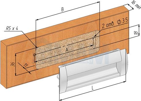 Установка ручки-раковины (артикул SH.RU2)