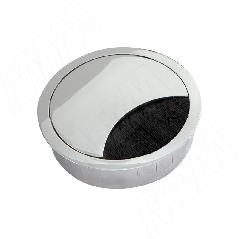 Заглушка кабель-канала, металлическая, круглая, d=80 мм, хром (2068.536) валик микрофибра 180 мм ворс 12 мм d 48 мм d ручки 8 мм полиакрил matrix