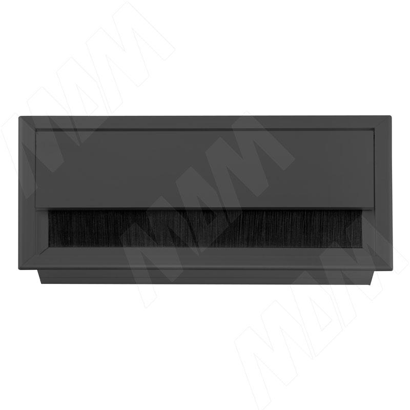 Заглушка кабель-канала, алюминиевая, черная, 160х80 мм (2113.160-BL)