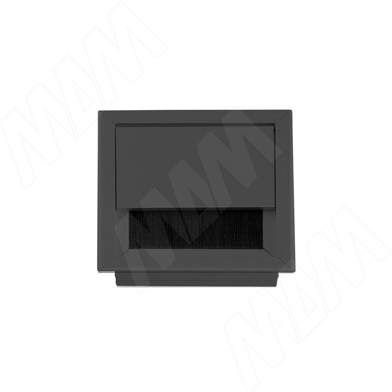 Заглушка кабель-канала, алюминиевая, черная, 80х80 мм (2113.80-BL) кабель