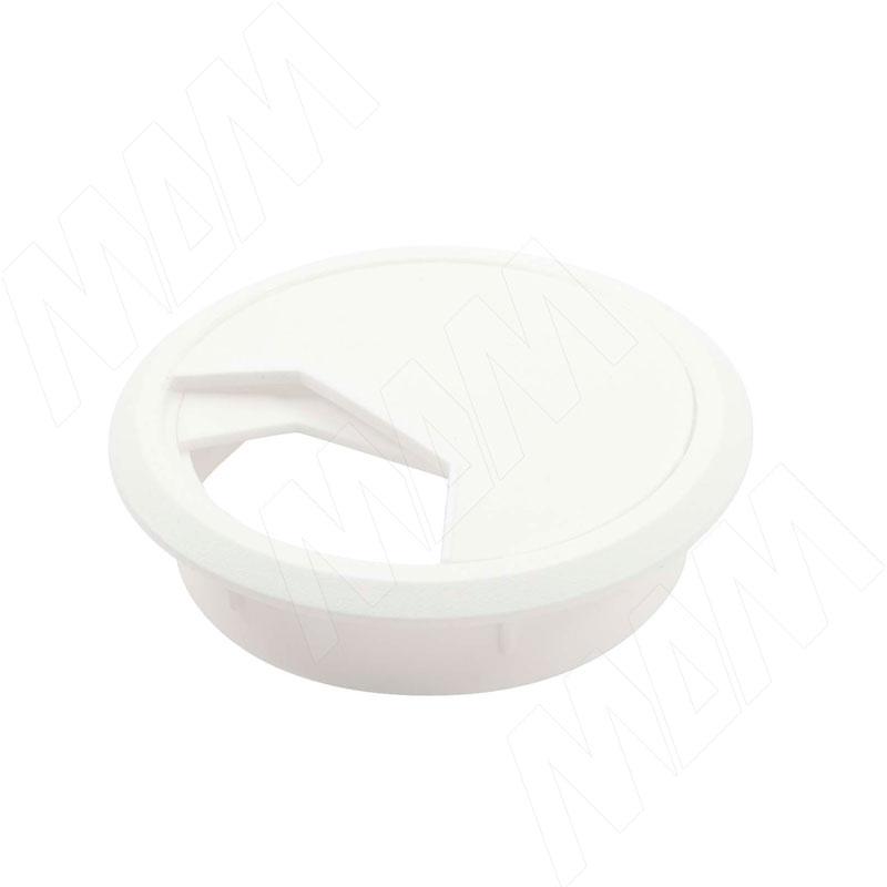 Заглушка кабель-канала, пластиковая, круглая, d=60 мм, белая (RTK60-W) заглушка для кабель канала dkc viva 45016 белая под 1 модуль
