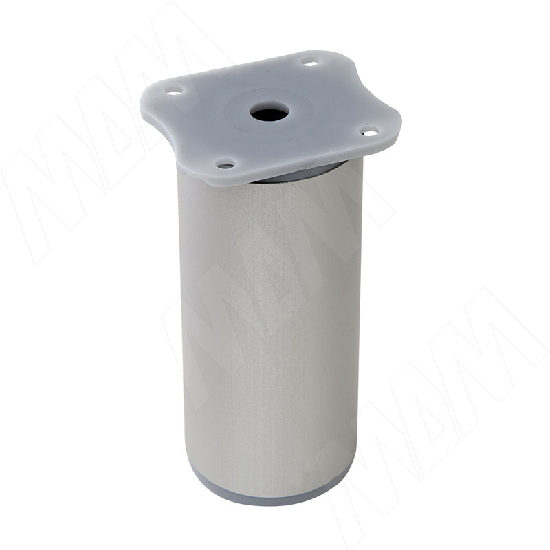 Опора декоративная D40мм, Н100+18мм алюминий (ADJ7.100.AL)