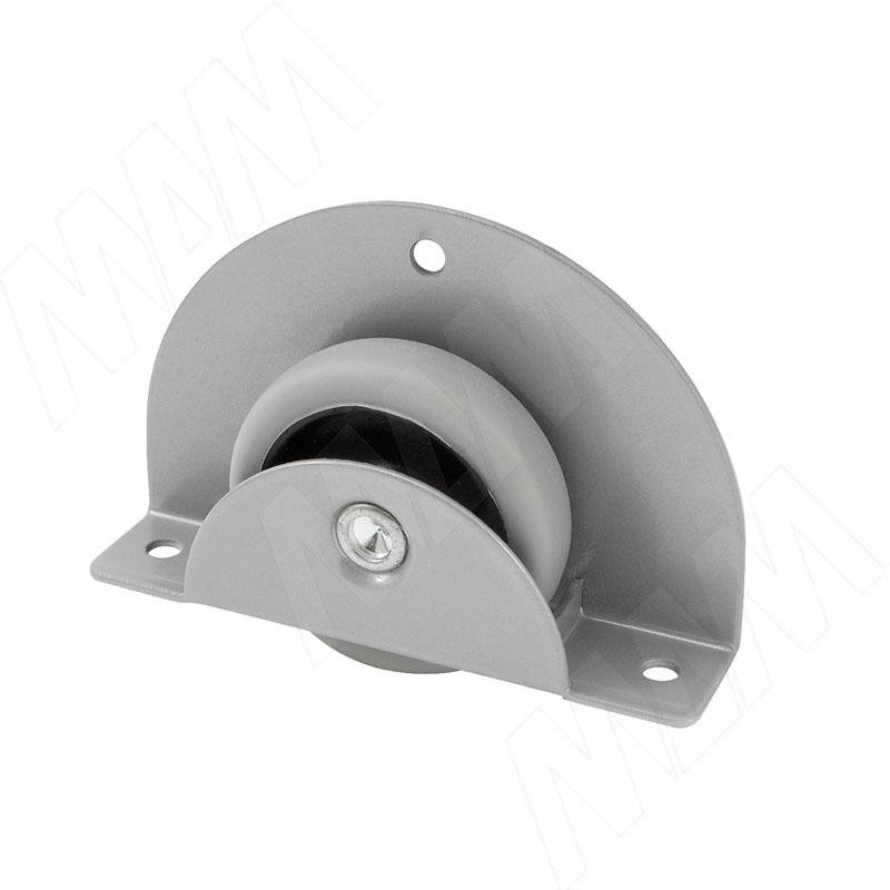 MEMPHIS-18 Опора колесная, прямоходная, врезная, прорезиненное колесо, D50 мм (CST18)