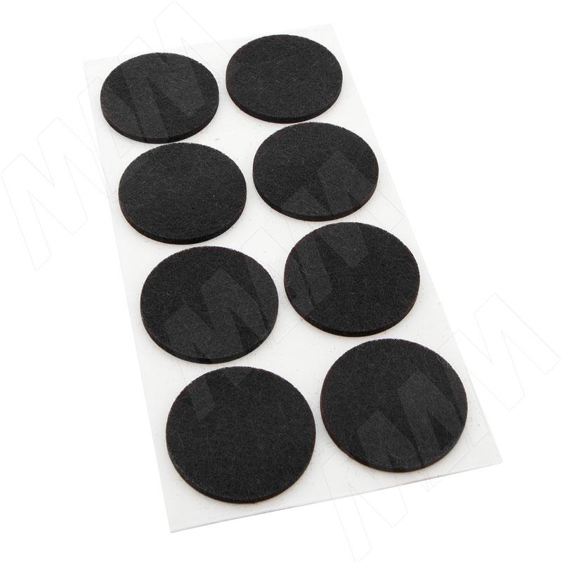 цена на Подпятник самоклеящийся круглый D20, черный (40 шт.) (HR20-BL)