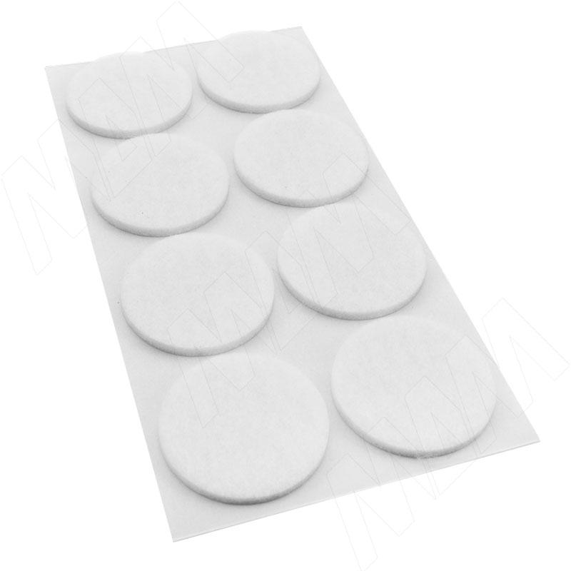 цена на Подпятник самоклеящийся круглый D20, белый (40 шт.) (HR20-W)