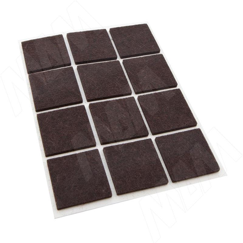Подпятник самоклеящийся квадратный 20X20мм, коричневый, 40 шт. (HS2020-NB)