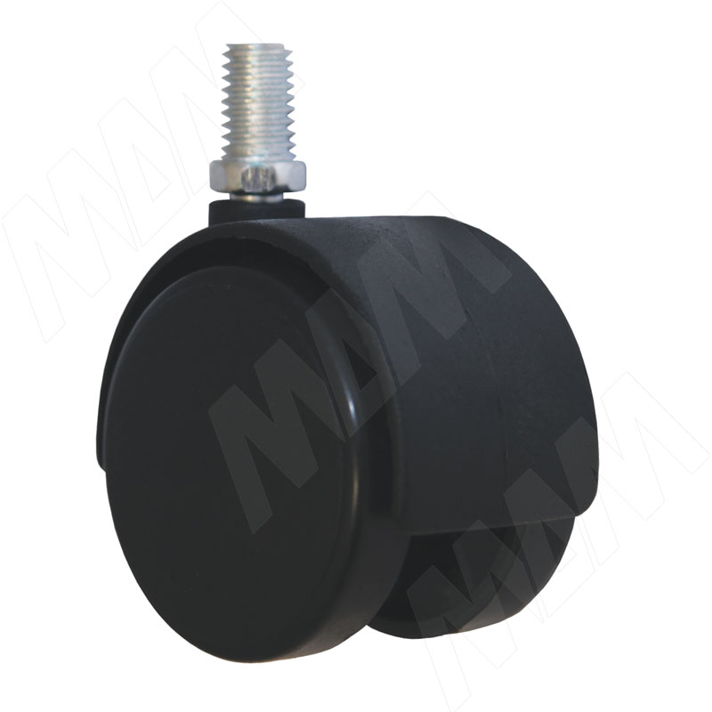 Опора двухколесная с винтом M8, D40 мм, без стопора (ОК-40/2/K)