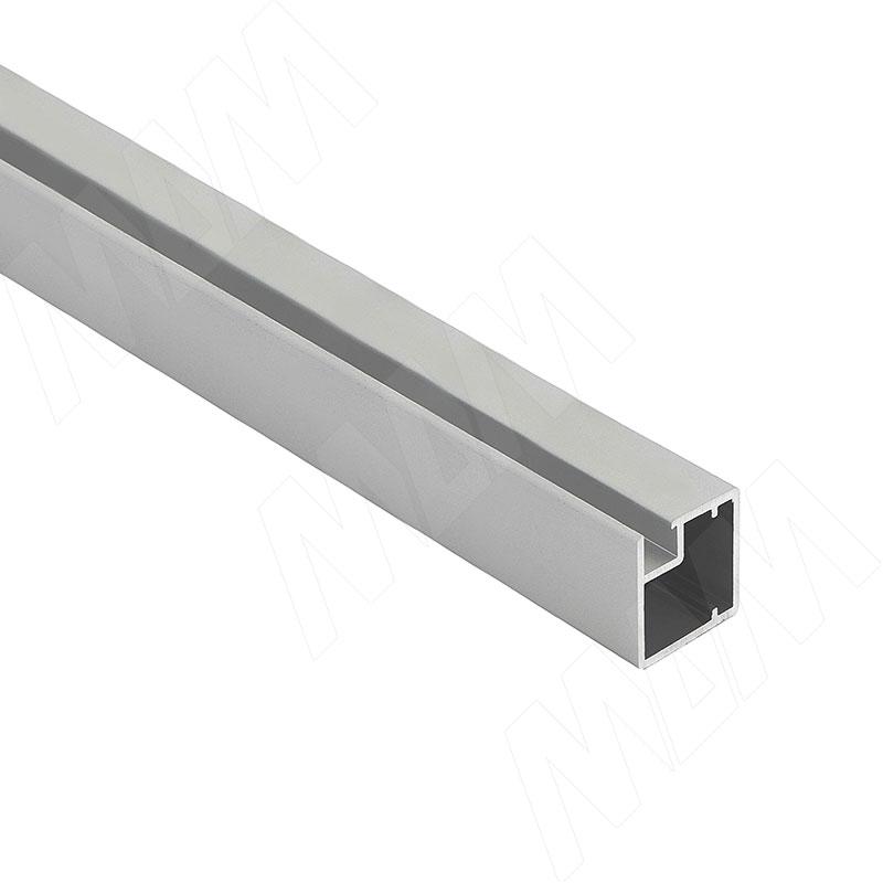 INTEGRO Профиль рамочный узкий, 19х20х19 мм, серебро, L-6000 (IN01117A) профиль рамочный мдф 55х16х2070 мм цвет белый