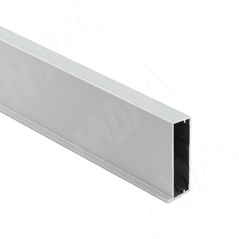 INTEGRO Профиль рамочный широкий, под наклейку, 45х19х1, серебро, L-6000 (IN01130A) профиль рамочный мдф 55х16х2070 мм цвет белый