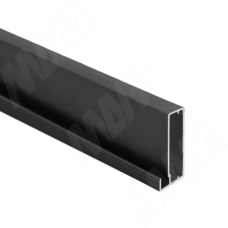 INTEGRO Профиль рамочный широкий, 45х20х8, черный, L-6000 (IN09133A) профиль рамочный мдф 55х16х2070 мм цвет белый