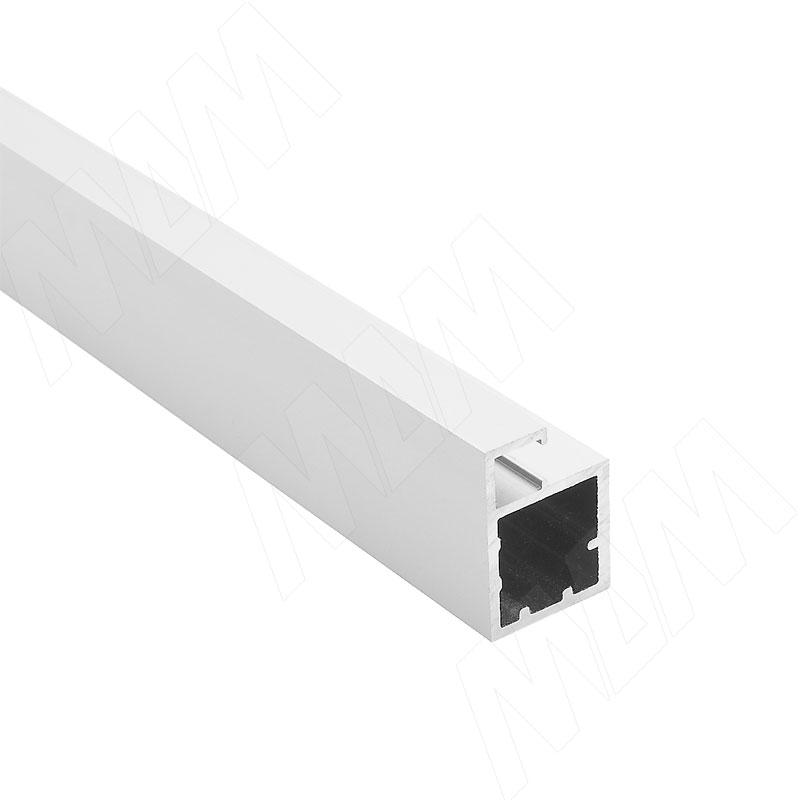 SECRET Профиль рамочный узкий, 19x27x9,4, серебро, L-6100 (PR207003053A) профиль рамочный мдф 55х16х2070 мм цвет белый
