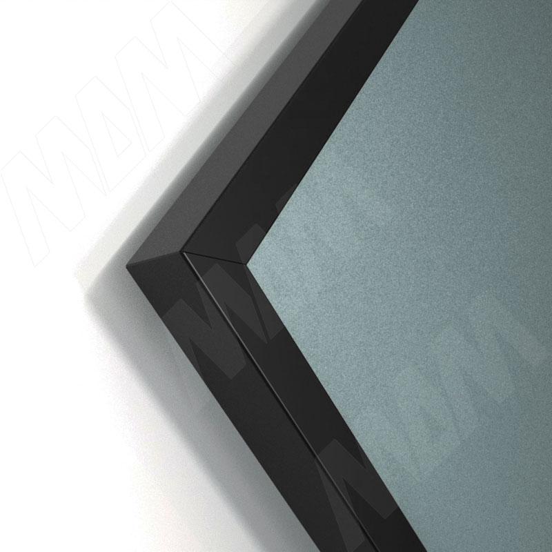 INTEGRO Профиль рамочный узкий, 19х20х19 мм, черный, L-6000 фото товара 2 - IN09117A