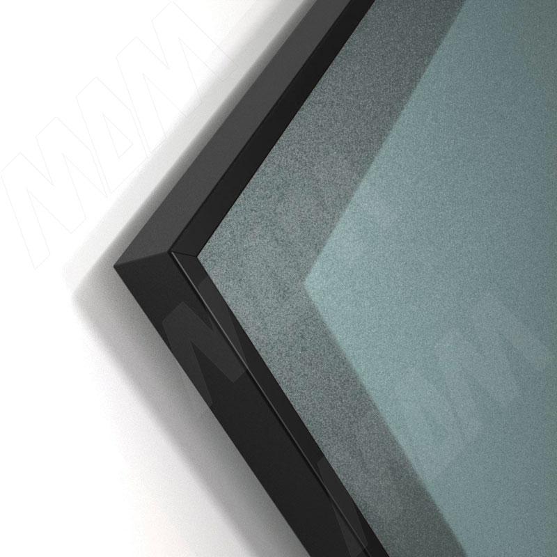 INTEGRO Профиль рамочный широкий, 45х20х8, черный, L-6000 фото товара 2 - IN09133A