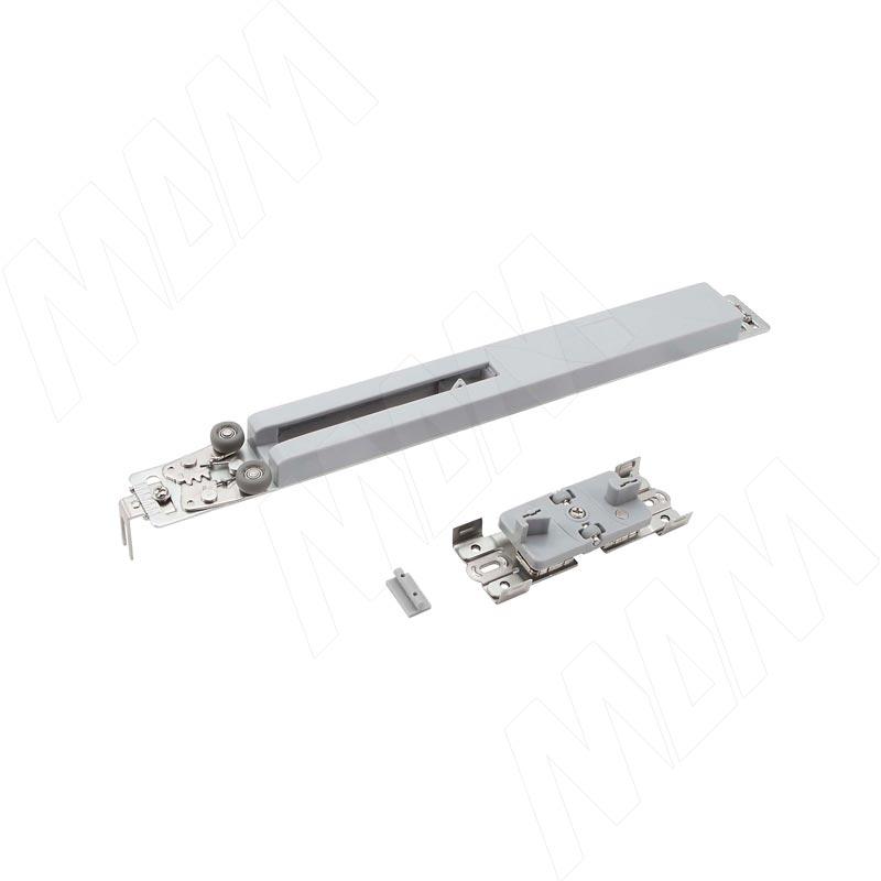 PRIDE Универсальная система плавного закрывания для шкафа-купе, 1 доводчик, 1 активатор, крепеж (DA50)